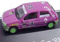 """Renault Clio 16V Clio Cup ´93 """"?"""" Nr.14, Frank Rauch herpa 035859"""