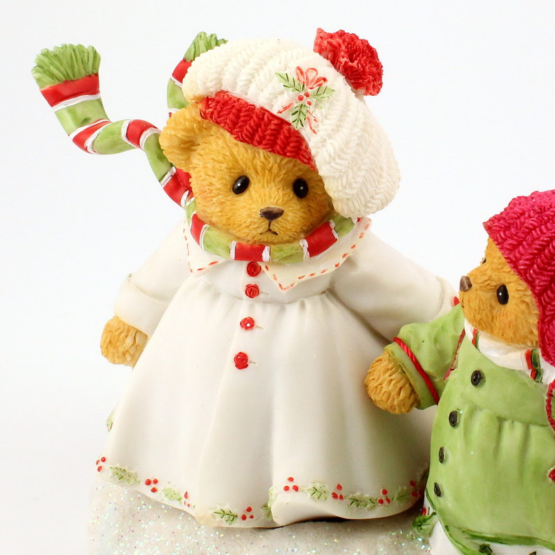 Cherished Teddies 2012 Margaret and Sharon 4th White Christmas Series 4024350