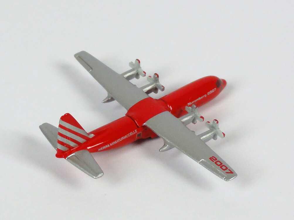 Foto 1:1000 Lockheed C-130H Spielwarenmesse Nürnberg 2007 herpa Wings 570237