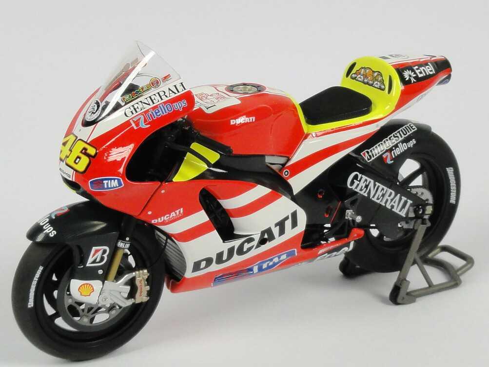 Foto 1:12 Ducati Desmosedici GP11 MotoGP Showbike 2011 Nr.46 Valentino Rossi Minichamps 122100146