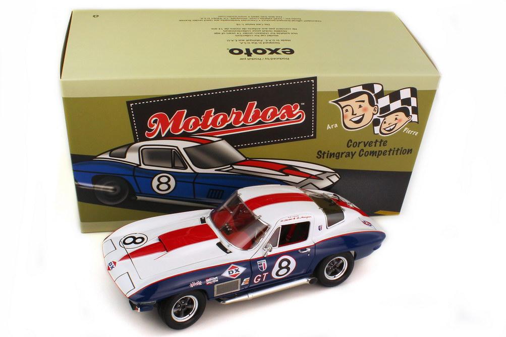 Foto 1:18 Chevrolet Corvette Sting Ray Competition Sebring 12 Hours 1967 Nr.8, Yenko / Morgan (Klassensieger) Exoto MTB00077