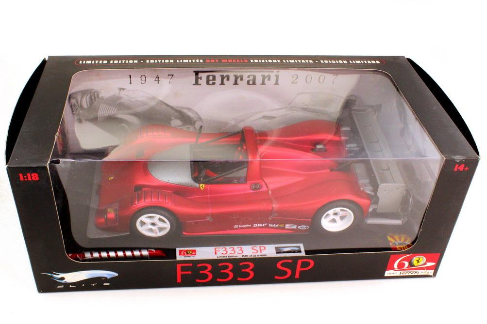 Foto 1:18 Ferrari 333 SP matt-rot-chrom 60 Jahre Ferrari - Elite L2975