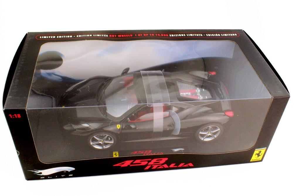 Foto 1:18 Ferrari 458 Italia nero daytona schwarz - Elite P9895