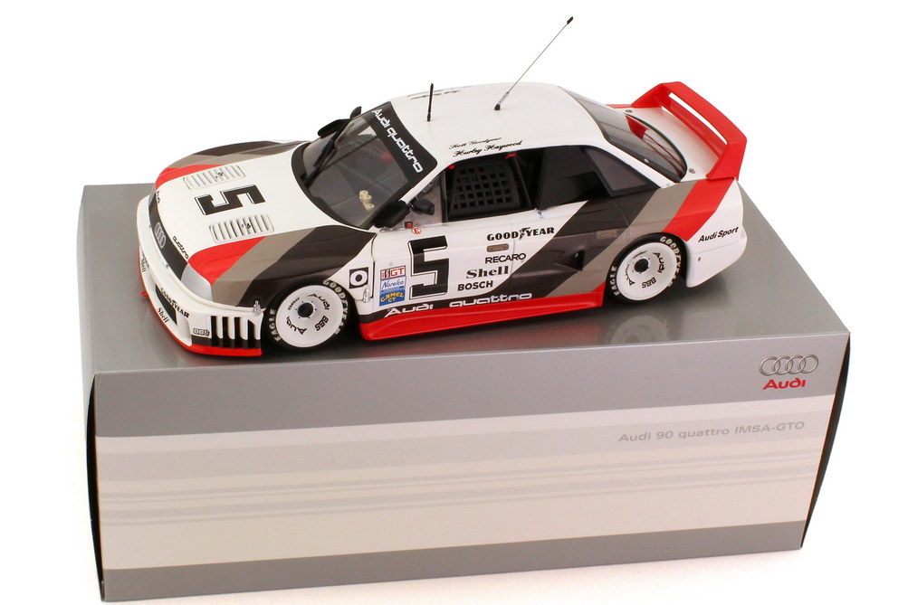 Foto 1:18 Audi 90 quattro IMSA GTO 1989 Nr.5, Haywood / Goodyear Werbemodell Minichamps 5031200105