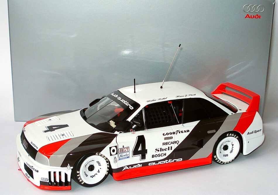 Foto 1:18 Audi 90 quattro IMSA GTO 1989 Nr.4, Stuck / Röhrl / Goodyear / Haywood Werbemodell Minichamps 5030600305