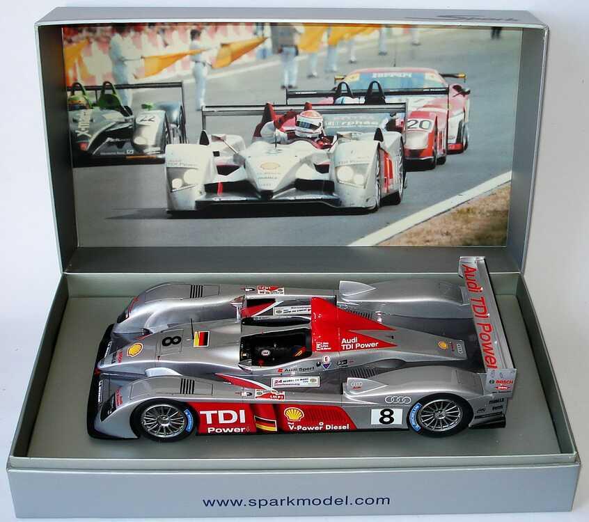 Foto 1:18 Audi R10 TDI 24h von Le Mans 2006 Nr.8 Biela/Pirro/Werner, Siegerfahrzeug Spark S1808