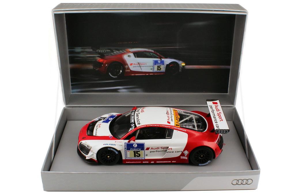 Foto 1:18 Audi R8 LMS 24 Stundenrennen Nürburgring 2011 Phoenix, Audi Sport Nr.15, Stippler / Hennerici / Haase / Winkelhock Werbemodell Spark 5021118425