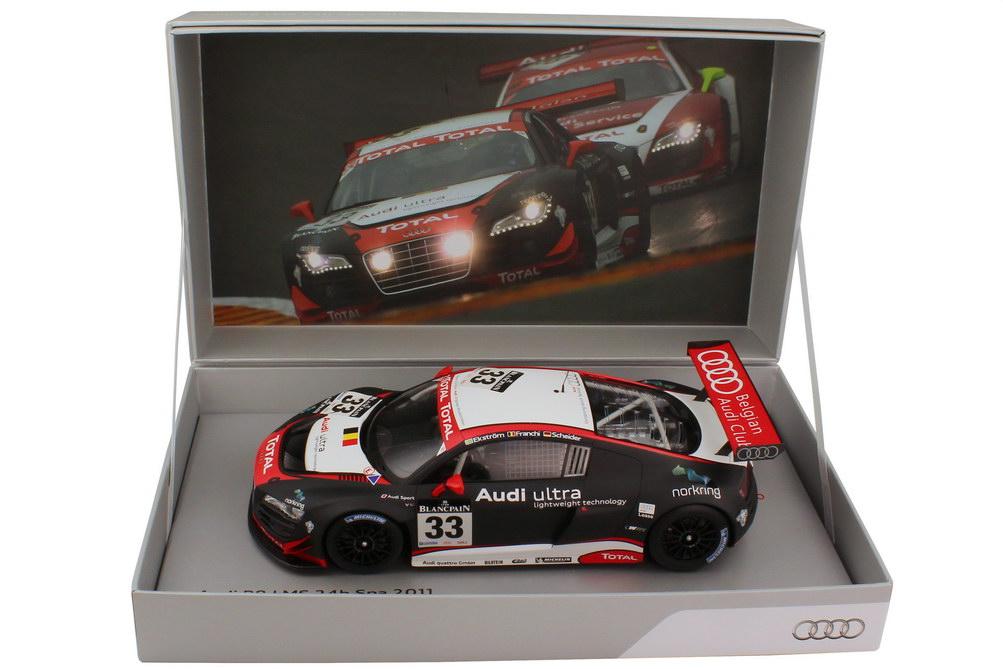 Foto 1:18 Audi R8 LMS 24 Stundenrennen Spa 2011 Nr.33, Ekström / Franchi / Scheider Werbemodell Spark 5021118455