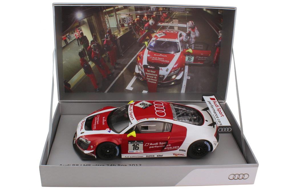 Foto 1:18 Audi R8 LMS 24h Spa 2012 Audi Sport performance cars Nr.16, Piccini / Rast / Stippler Werbemodell Spark 5021200365