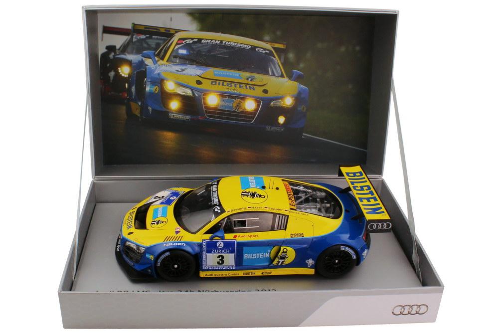 Foto 1:18 Audi R8 LMS ultra 24h Nürburgring 2012 Phoenix Racing, Bilstein Nr.3, Basseng / Haase / Stippler / Winkelhock Werbemodell Spark 5021200335