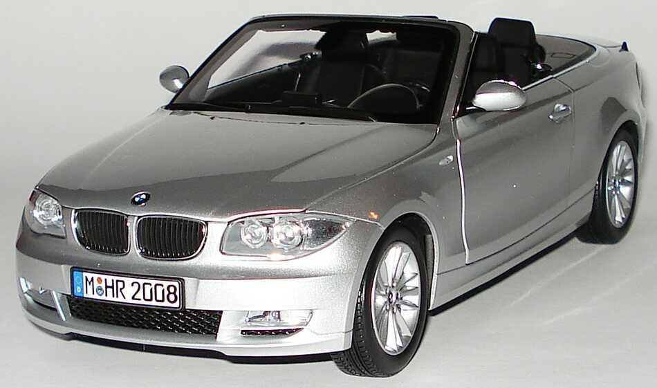 Foto 1:18 BMW 1er Cabrio (E88) titansilber-met. Werbemodell Kyosho 80430427021