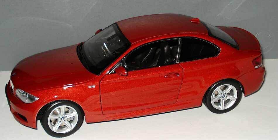 Foto 1:18 BMW 1er Coupé (E82) sedonarot-met. Werbemodell Kyosho 80430427064