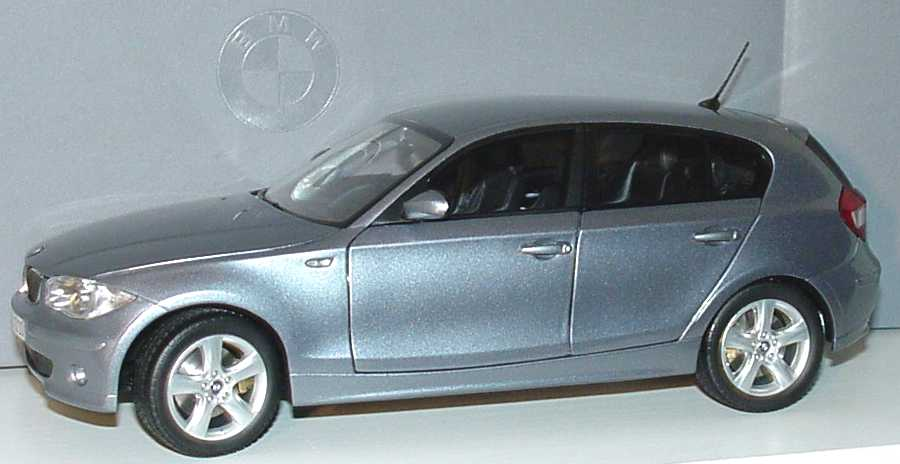 Foto 1:18 BMW 1er (E87) quartblue-met. Werbemodell Kyosho 80430308599