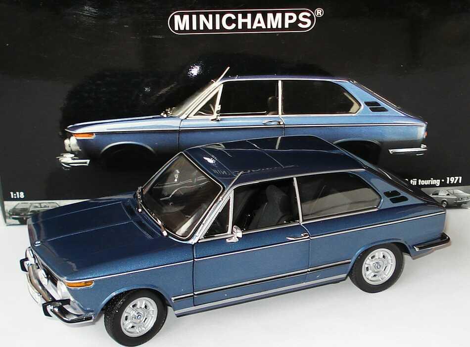 Foto 1:18 BMW 2000 tii touring blau-met. Minichamps 100021010