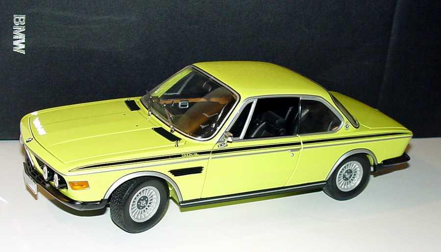 Foto 1:18 BMW 3,0 CSL gelb Werbemodell Minichamps 80430137980