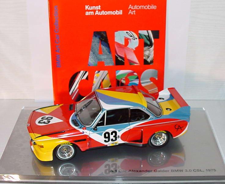 Foto 1:18 BMW 3,5 CSL Art Car 1975 Alexander Calder, Nr.93, 24 Stunden von LeMans 1975 Werbemodell Minichamps 80430150918