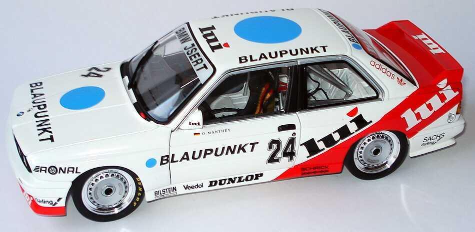 Foto 1:18 BMW M3 (E30) DTM 1987 Isert, Lui, Blaupunkt Nr.24, Olaf Manthey Minichamps 180872024
