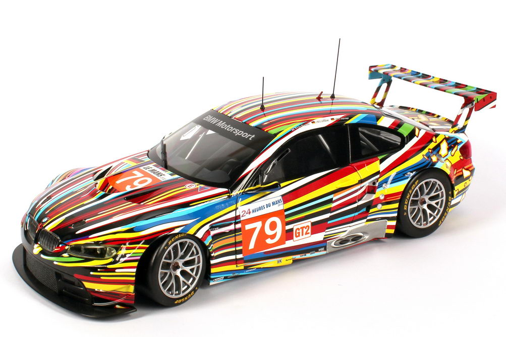 Foto 1:18 BMW M3 GT2 (E92) 24h von Le Mans 2010 Art-Car Jeff Koons Nr.79, Müller / Werner / Priaulx Werbemodell BMW-Group 80432210048