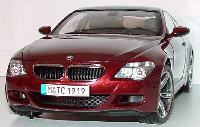 Foto 1:18 BMW M6 Coupé (E63) indianapolisrot-met. Werbemodell Kyosho 80430398134