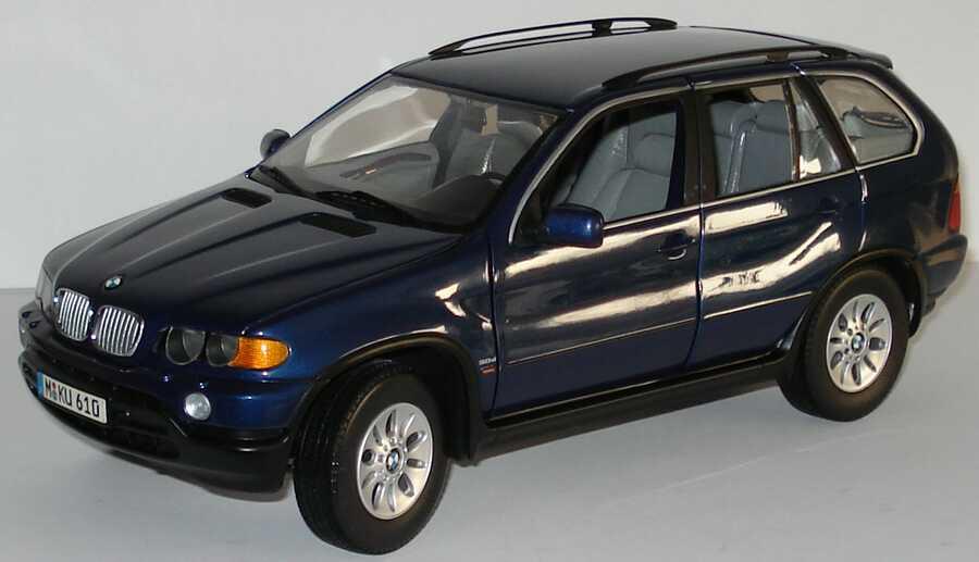 Foto 1:18 BMW X5 3.0d dunkelblau-met. Werbemodell Kyosho 80439411688