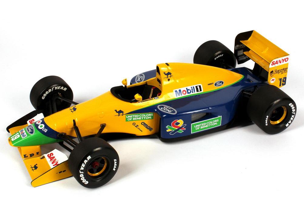 Foto 1:18 Benetton Ford B191B Formel 1 1992 Nr.19, Michael Schumacher Minichamps 100920119
