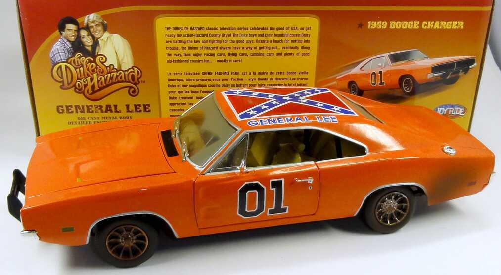 Foto 1:18 Dodge Charger 1969 General Lee (TV-Serie: The Dukes of Hazzard) verschmutzt Ertl 32485