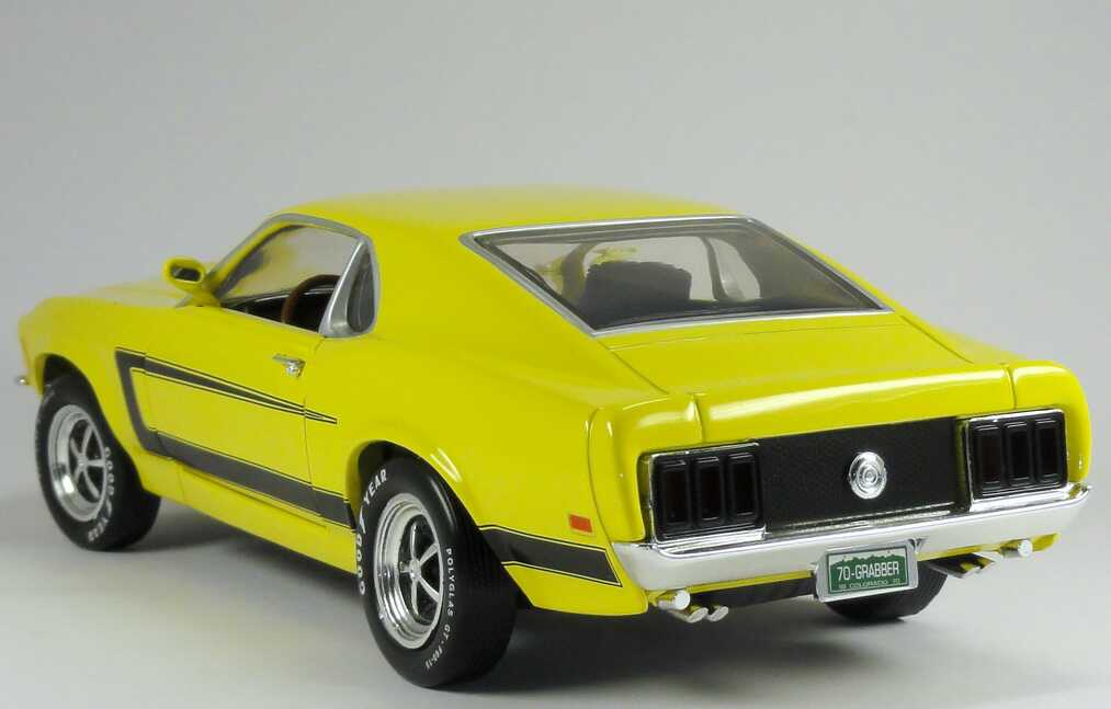 1 18 ford mustang grabber 1970 gelb yellow ertl 39060m. Black Bedroom Furniture Sets. Home Design Ideas