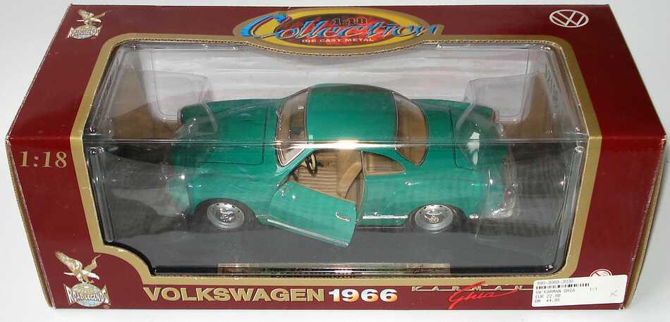 Foto 1:18 Karmann Ghia Coupé grün Yat Ming 92198