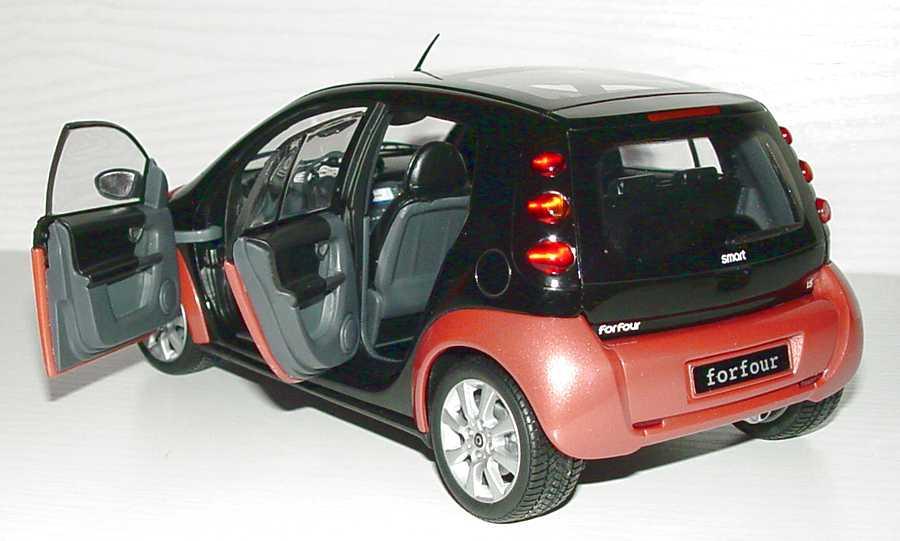 Foto 1:18 MCC Smart Forfour flame-red-met. Werbemodell Kyosho 0019140V001C36Q00