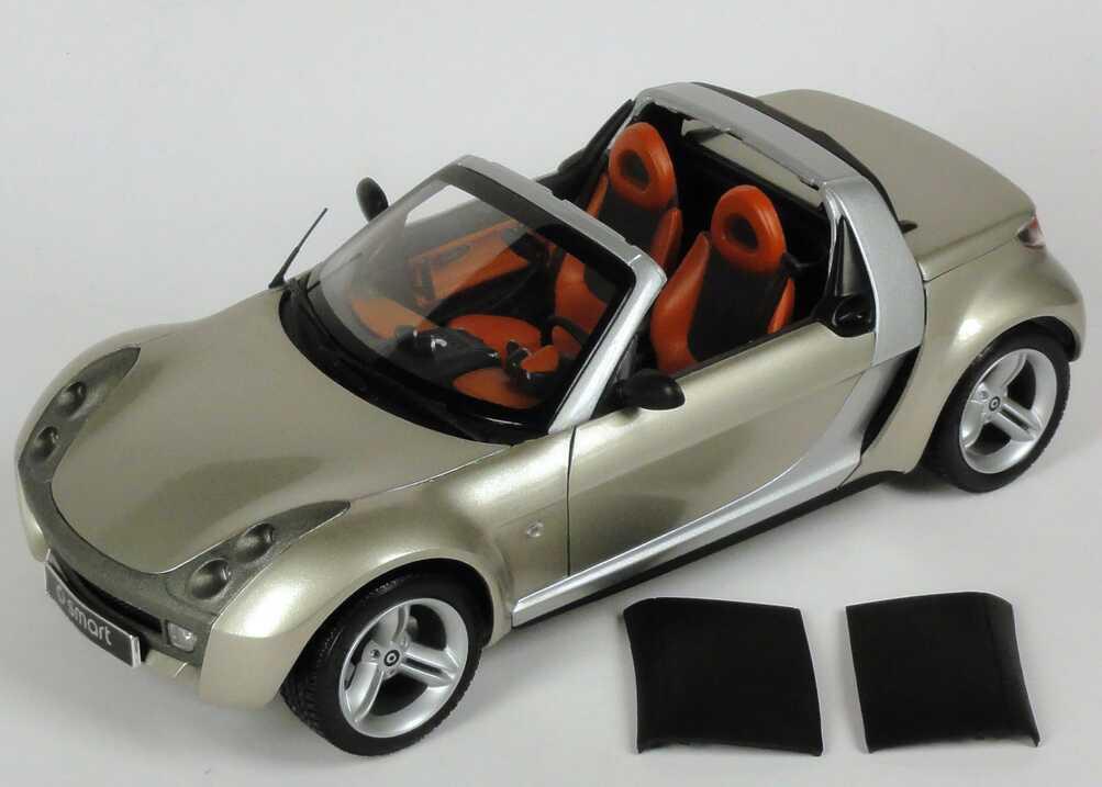 Foto 1:18 MCC Smart Roadster champagne-remix-met. Werbemodell Maisto 0014174V001C62Q00