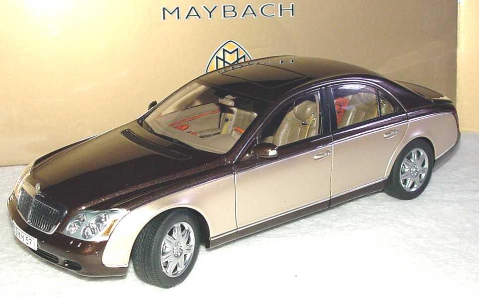 Foto 1:18 Maybach 57 dunkelbraunmet./goldmet., Sonderedition Werbemodell AUTOart B66962179