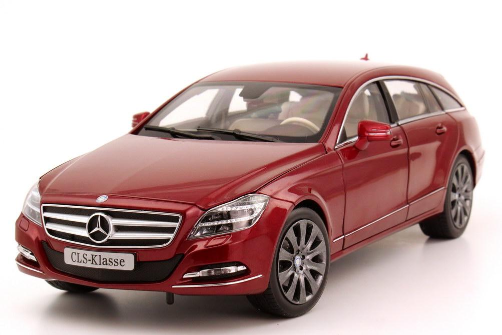 Foto 1:18 Mercedes-Benz CLS Shooting Brake (X218) designo-zirkon-rot-met. Werbemodell Norev B66960116