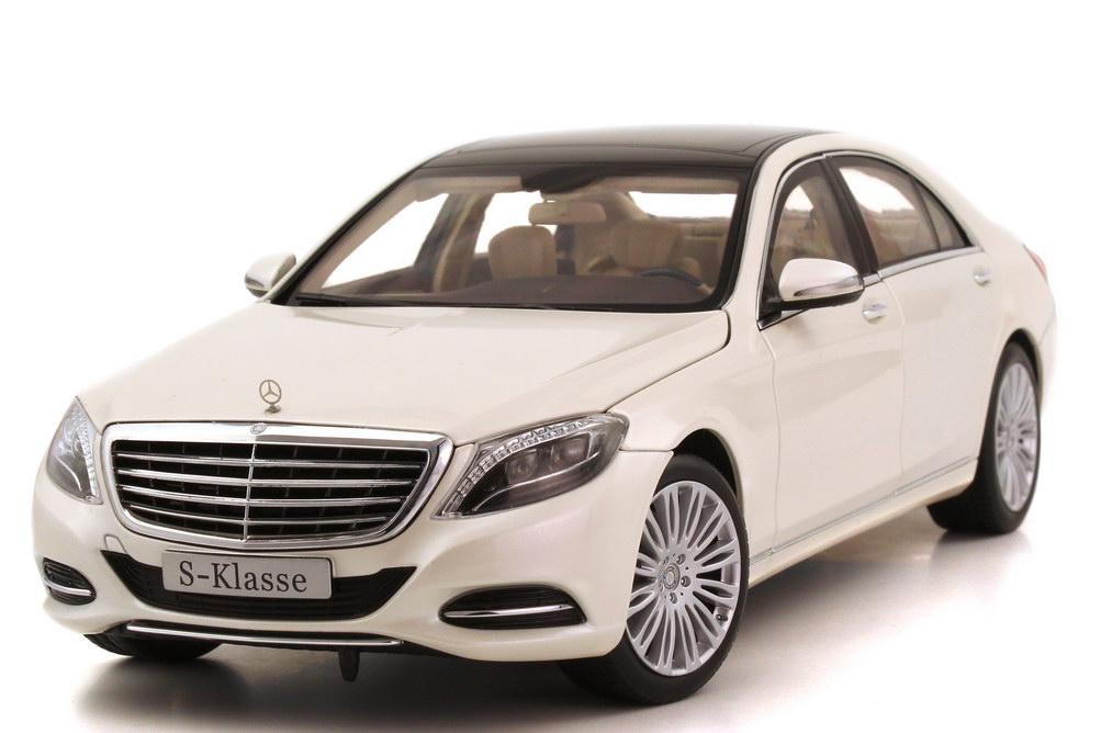 Foto 1:18 Mercedes-Benz S-Klasse 2013 Langversion (V222) diamantweiß-bright-met. Werbemodell Norev B66960156