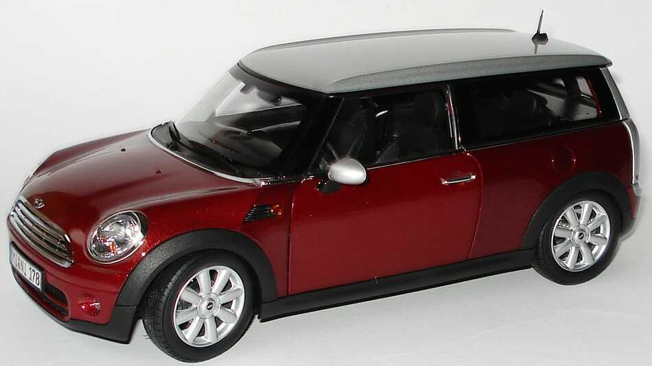 mini cooper clubman nightfirered met werbemodell kyosho. Black Bedroom Furniture Sets. Home Design Ideas