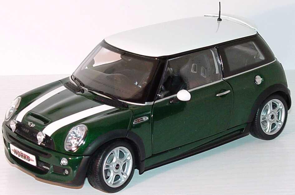 Foto 1:18 New Mini Cooper S John Cooper Works racinggreen/weiß Kyosho 08558G