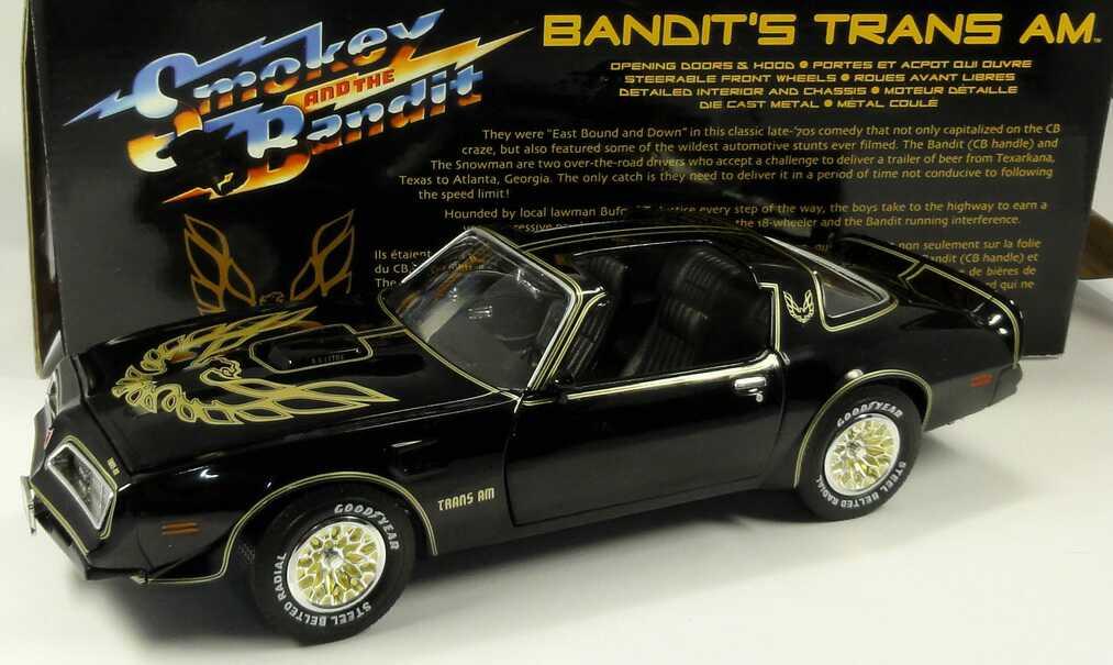 Foto 1:18 Pontiac Firebird Trans Am (1977) schwarz/gold (Reel Rides, Movie: Smokey and the Bandit) Ertl 33121