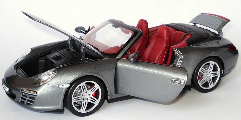 Foto 1:18 Porsche 911 Carrera 4S Cabrio (997, Modell 2009) meteorgrau-met. Werbemodell Norev WAP02101418