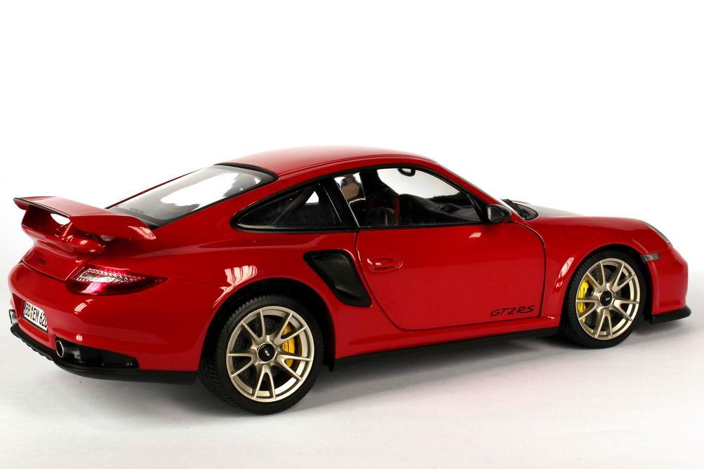 Foto 1:18 Porsche 911 GT2 RS (997, Modell 2010) indisch-rot Werbemodell Minichamps WAP0210030B