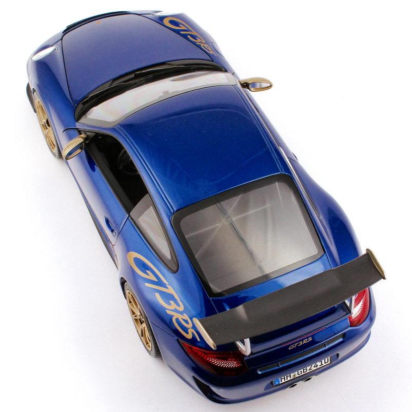 Foto 1:18 Porsche 911 GT3 RS (997, Modell 2010) aqua-blau-met./gold Norev 187568