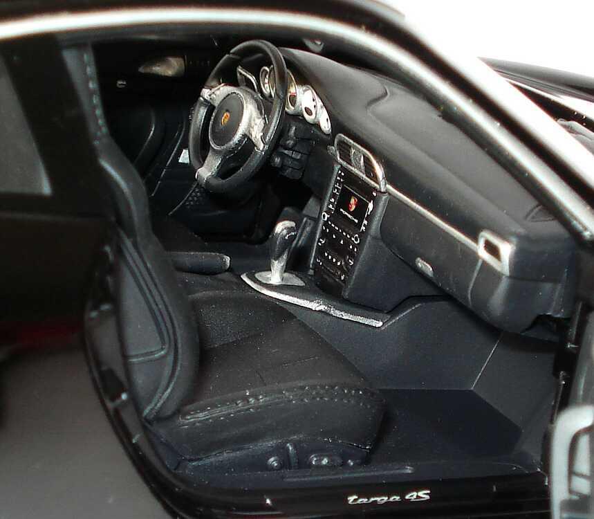 Foto 1:18 Porsche 911 Targa 4S (997, Modell 2009) schwarz Norev 187558