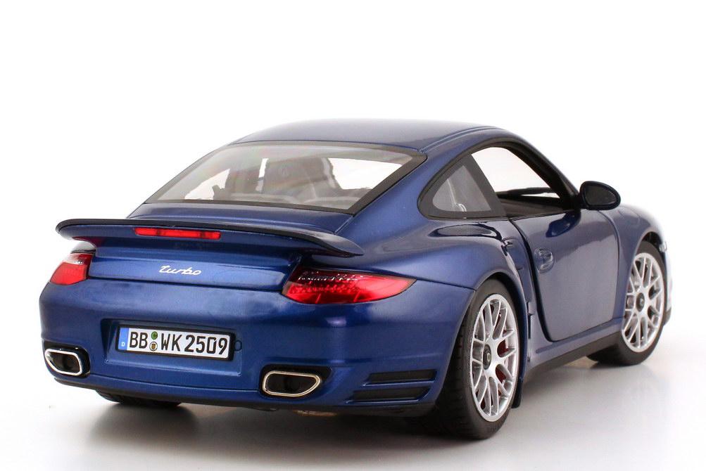 Foto 1:18 Porsche 911 Turbo (997, Modell 2010) aqua-blau-met. Norev 187621