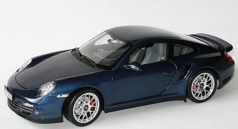 Foto 1:18 Porsche 911 Turbo 997 Modell 2010 dunkelblau-met. - Werbemodell - Norev WAP0210010A