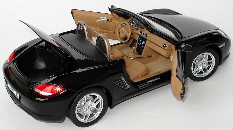Foto 1:18 Porsche Boxster (987, Modell 2009) schwarz Werbemodell Norev WAP02100419