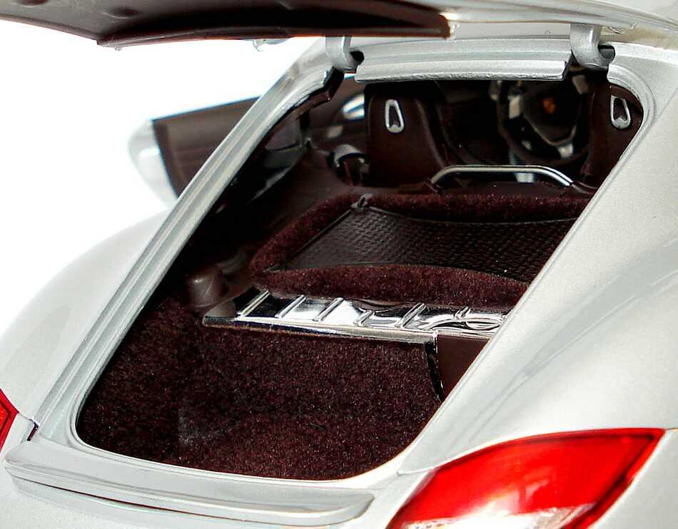 Foto 1:18 Porsche Cayman (Modell 2009) GT-silber-met. Werbemodell Norev WAP02100619