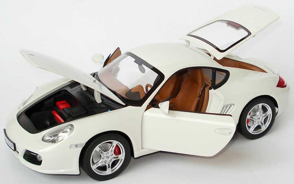 Foto 1:18 Porsche Cayman S (Modell 2009) carreraweiß Werbemodell Norev WAP02100719