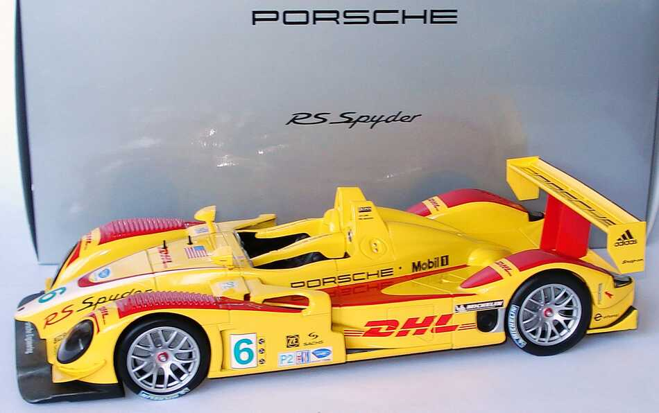 Foto 1:18 Porsche RS Spyder ALMS 2008 DHL Nr.6, Long / Maassen Werbemodell Norev WAP02102418