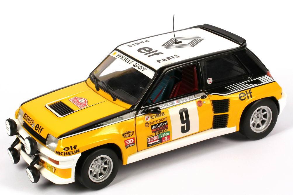 Foto 1:18 Renault R5 Turbo Rallye Monte Carlo 1981 Renault, elf Nr.9, Ragnotti / Andrié (Siegerfahrzeug) Universal Hobbies 4530