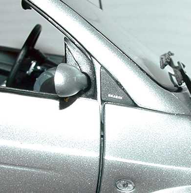 Foto 1:18 Smart ForTwo Cabrio BRABUS silber-met. Werbemodell Kyosho 0017769V001C05Q00