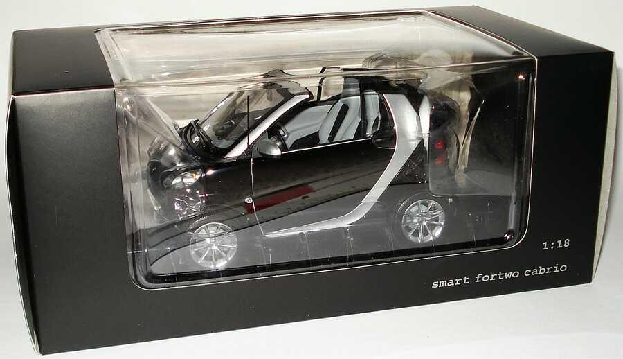 Foto 1:18 Smart Fortwo II Cabrio C451 deepblack - Werbemodell - Minichamps Q0022566V001C18Q00