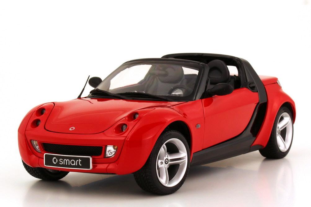 Foto 1:18 Smart Roadster (Typ 452) spice-red Werbemodell Kyosho 0014175V002C37Q00